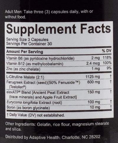 Nugenix Total T Ingredients
